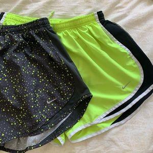 Set of Nike tempo shorts